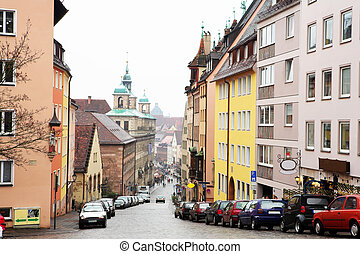 Munich 57 - Streets and buildings in Neurenburg - Germany...