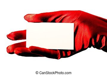 Blank Card and Red Glo - High contrast sparkling red satin...