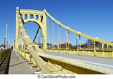 Pittsburgh Bridge - Clemente Bridge in Pittsburgh