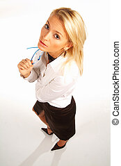 businesswoman - Sexy businesswomen isolated on white