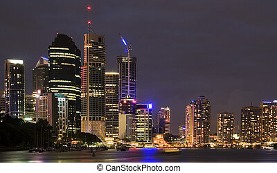 Brisbane city skyline - Cityline night shot