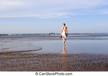 woman on beach Australia 3 - woman on beach Australia Byron...
