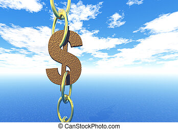 Dollar - The dollar sign in chains