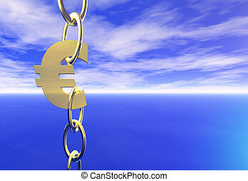 Euro - The Euro symbol in chains