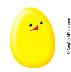 easter chicken egg - vector - card