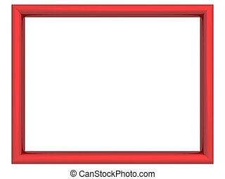 Red metallic frame