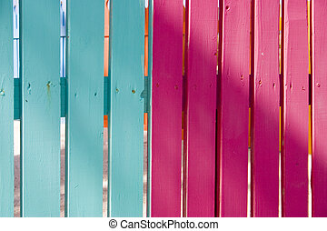 colourful fence 4 - colourfully painted fence at a carbbean...
