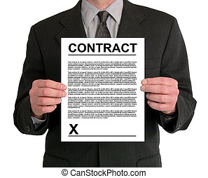 Businessman Presentation (Contract) - Image of a...