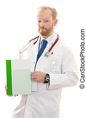 Medical Facts - Doctor holding some information or facts