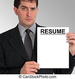 Businessman Side Presentation (Resume) - Image of a...