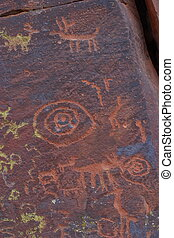 V-V Petroglyphs in the Coconino National Forest