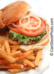 turkey burger - nutritious ground turkey burger and oven...