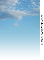 sky and clouds - vertical image with sky and clouds. Space...