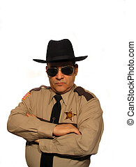 New Sheriff - ,Part of the sheriff series,over white