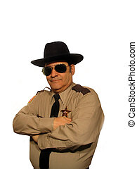 Skeptical Sheriff - , Part of the uniformed sheriff...
