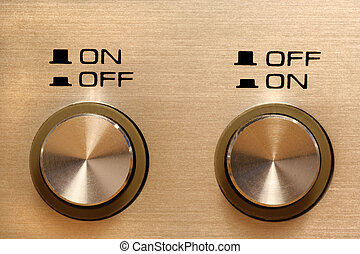 on off off on - disagreeing control buttons showing opposing...