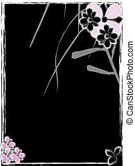 funky black flowers