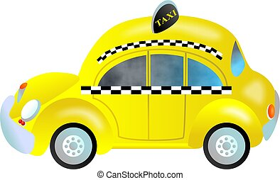 taxi - stylised New York taxi cab