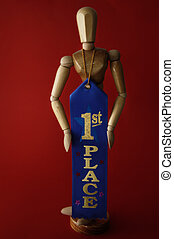 First Place - A manikin or artist\\\'s model wears a first...
