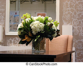 Living room - Bouquet of flowers on a table in a living room