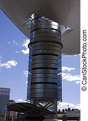 Abstract Shoping Mall Building Roof in Las Vegas Strip -...