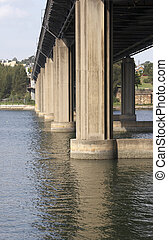 Bridge - Iron Cove Bridge across the Parramatta river, NSW,...