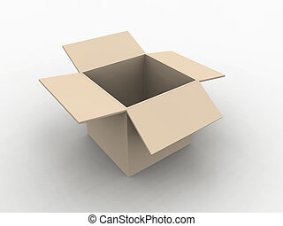 Empty Box - 3D illustration.