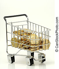 Cart of Gold - Shopping Cart Filled With Gold Coins