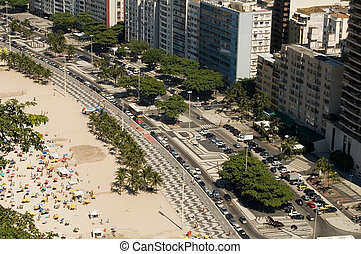 Copacabana - View from copacabana Beach (Leme), Rio de...