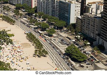 Copacabana - View from copacabana Beach (Leme), Rio de...