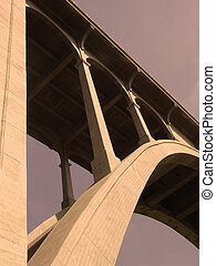 Bridge - Colorado Street Bridge in Pasadena, California with...