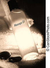 Sexy massage oil - sexy massage oil under candlelight