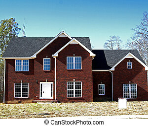 New Home forsale - New brick home with white blank forsale...