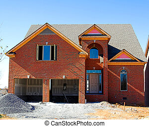 home construction - Brand new brick 2 story home almost...