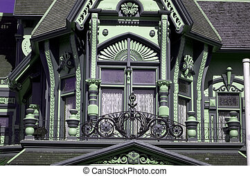 Queen Anne detail - detail of entry to home in Queen Anne...