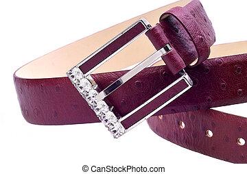 Belt - exclusive ladies belt with diamonds