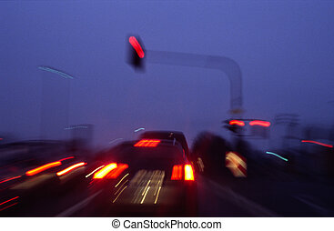 blur traffic - taken by 70mm and drew the zoomobjectiv to...