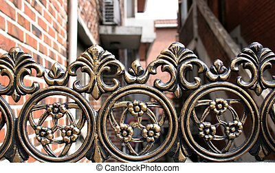 Iron gate - Close-up of an iron gate
