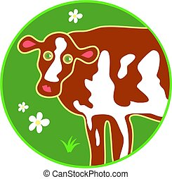 cow - stylised cow drawing