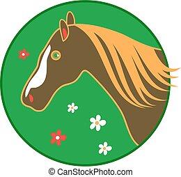 horse - stylised horse drawing