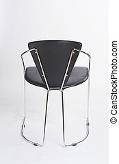 metal chair VI - Metallstuhl VI - black metal chair on white...