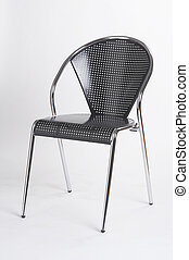 metal chair II - Metallstuhl II - black metal chair on white...