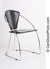 metal chair IV - Metallstuhl IV - black metal chair on white...