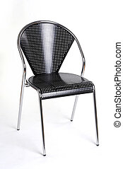 metal chair VII - Metallstuhl VII - metal chair isolated...