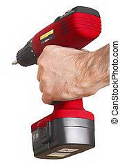 red power drill rote Bohrmaschine - red power drill with...