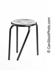 different - verschieden - metal chair with broken leg on...