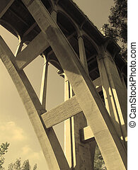 Bridge - Colorado Street Bridge in Pasadena, California in...