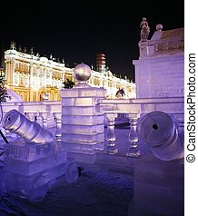 Ice Palace - Russia. Saint Petersburg. Ice Palace on the...