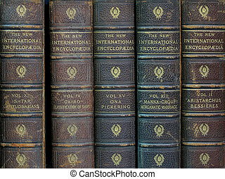 "old encyclopedias - set of old \""New International..."