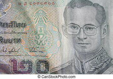 thai baht with king of thailand